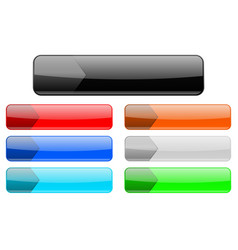 menu buttons colored set of web interface icons vector image