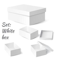 Set White box vector image