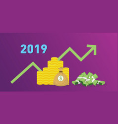 2019 new year company financial finance target vector image