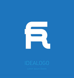 6 and r logo 6r - design element or icon monogram vector image