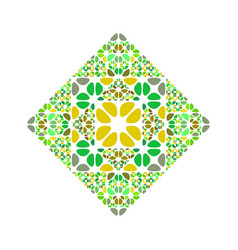 Abstract ornate colorful geometrical gemstone vector
