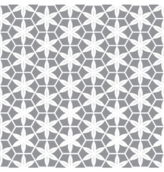 abstract white flower in grey background vector image
