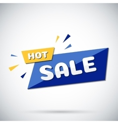 Advertising banner Hot sale vector image