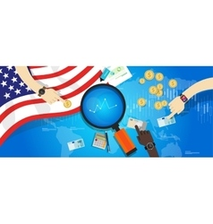 america usa united states economy financial vector image