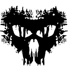 Anarchy military patch skull abstract flat logo vector