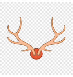 Antlers icon in cartoon style vector