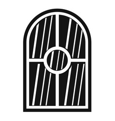 Arched window icon simple vector