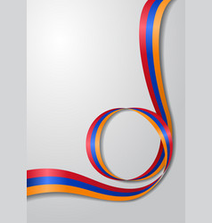 Armenian flag wavy background vector