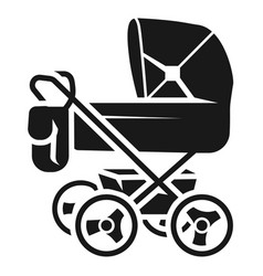 baby stroller with bag icon simple style vector image