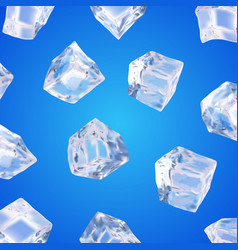 Background with ice cubes vector