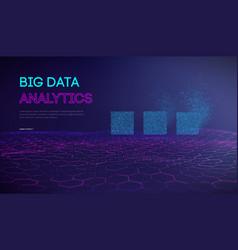 Big data analytics background artificial vector