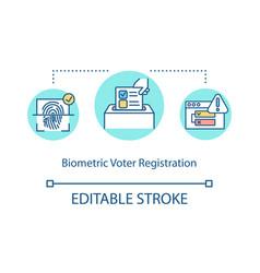 Biometric voter registration concept icon vector