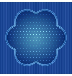 Blue background with stripe and polka dot pattern vector