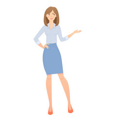 Business woman isolated vector