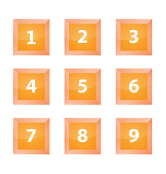 Buttons number vector