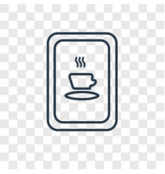 cafe concept linear icon isolated on transparent vector image