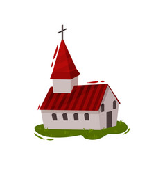 catholic church in scandinavian style vector image