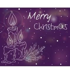 Christmas luminous vector