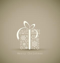 Christmas present box made from snowflakes vector image vector image