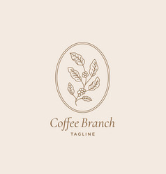 coffee branch abstract trendy sign symbol vector image