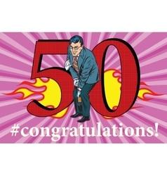 Congratulations 50 anniversary event celebration vector