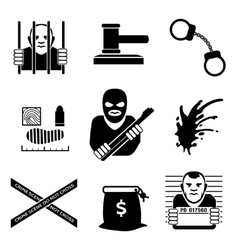 criminal vector image