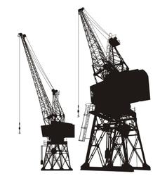 Dockyard cargo cranes vector image