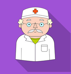 doctor icon in flat style isolated on white vector image