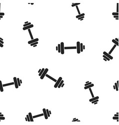 Dumbbell fitness gym icon seamless pattern vector