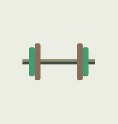 dumbbell icon flat design vector image