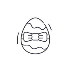 easter egg line icon concept easter egg vector image