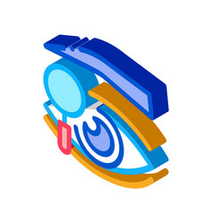 Eyelid research isometric icon vector