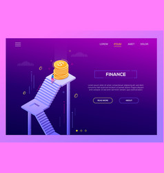 finance - modern isometric landing page vector image