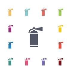 fire extinguisher flat icons set vector image