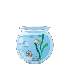 Fish in the aquarium vector image