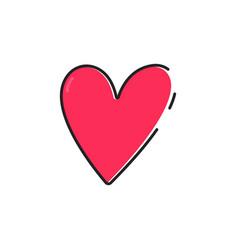 flat color love icon vector image