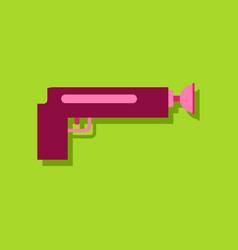 Flat icon design collection kids gun in sticker vector