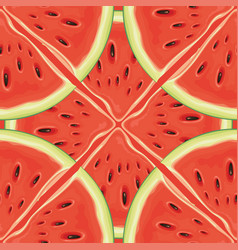 fruit seamless pattern with red juicy watermelon vector image