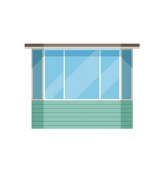 Glazed modern balcony on a vector