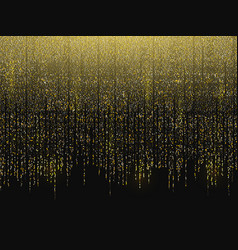 glitter background gold garlands falling down vector image