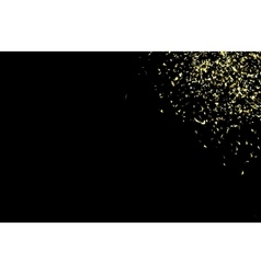 gold confetti on a black vector image