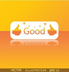 Good icon symbol Flat modern web design with vector image