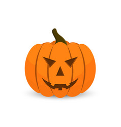 halloween pumpkin in cartoon style scary face of vector image