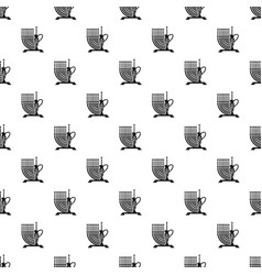 high candle pitcher pattern seamless vector image