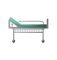 High orthopedic hospital steel bed with green vector