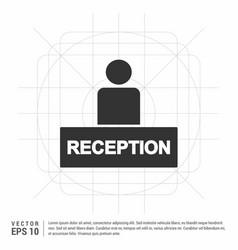 Hotel reception icon vector