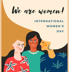 international womens day template with vector image