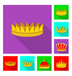 Isolated object of medieval and nobility icon set vector