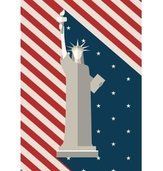 July 4 th independence day statue liberty usa vector