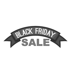 Label semicircle black friday sale icon vector